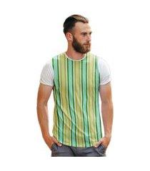 camiseta listras verde e amarelo brasileirinho retro