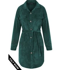 corduroy jurk smaragdgroen