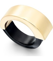 alfani gold-tone colorblock statement ring, created for macy's