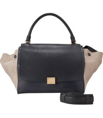 borsa donna a mano shopping in pelle trapeze