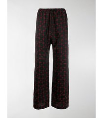 marine serre crescent moon and star print trousers