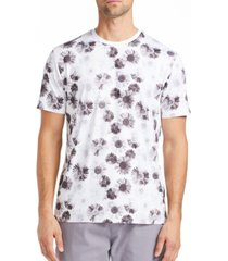 tallia men's slim fit daisy print t-shirt and a free face mask