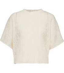 kalista blouses short-sleeved creme mango