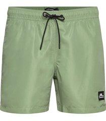 banks-solid swim zwemshorts groen j. lindeberg
