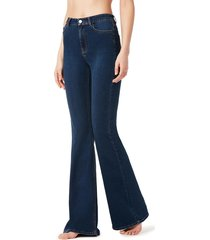 calzedonia - flared jeans, l, blue, women