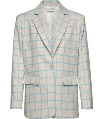 pohjoinen iso ruutu jacket blazer kavaj multi/mönstrad marimekko