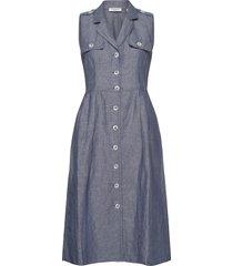 dress woven fabric jurk knielengte blauw gerry weber edition