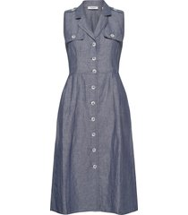 dress woven fabric jurk knielengte blauw gerry weber edition