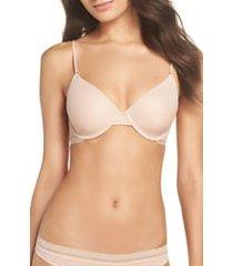 women's on gossamer next to nothing underwire t-shirt bra, size 36dd - beige
