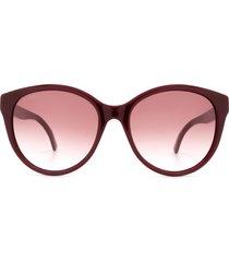 gucci gucci gg0631s burgundy sunglasses