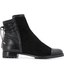 alexandre birman asymmetric top ankle boots - black