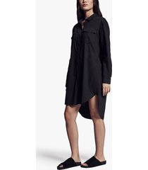 cotton military shirt dress