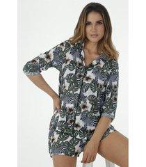 conjunto pijama para mujer tennis, con estampado