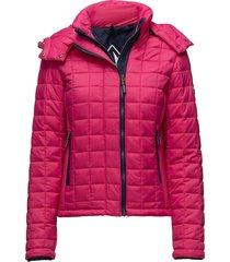 hooded box quilt fuji jacket doorgestikte jas roze superdry