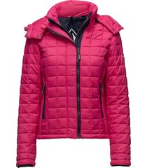 hooded box quilt fuji jacket doorgestikte jas roze superdry