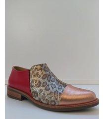 botineta de cuero cobre pazos shoes lisa