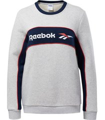 buzo blanco reebok classic linear fleece