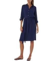 melissa odabash lois cover-up dress, size small in navy at nordstrom