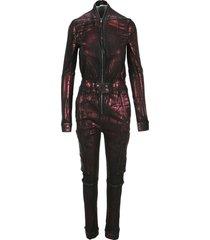 dark shadow metallic sheen jumpsuit