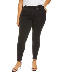 madewell curvy high waist ankle skinny jeans, size 20w in starkey at nordstrom
