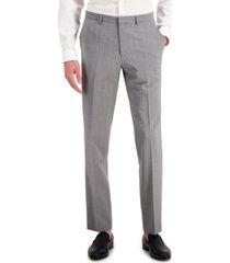 hugo men's gray textured modern-fit wool suit separate pants