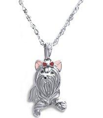 collar yorkshire terrier casual plata arany joyas