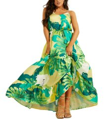 guess angelica printed maxi dress