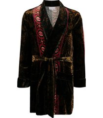 pierre-louis mascia tied thigh-length robe - brown