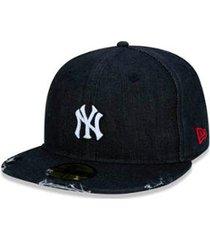 boné new era mlb new york yankees denim 9twenty aba reta