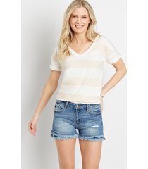 kancan™ womens high rise medium fray hem 3.5in shorts blue - maurices