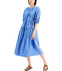weekend max mara kuban tiered elbow-sleeve dress