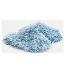 pantufa chinelo com pelinhos | accessories | azul | 34/35