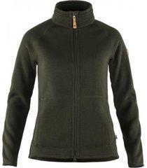 fjällräven vest fjällräven women övik fleece zip sweater deep forest-s