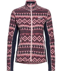 rille fleece sweat-shirt trui roze kari traa