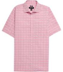 pronto uomo raspberry plaid camp shirt