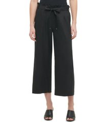 calvin klein tie-belt pull-on pants