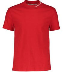 tommy jeans t-shirt - slim fit - rood