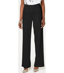 inc wide-leg crepe side zip high waist pants, created for macy's