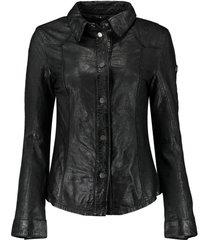 leren jas leacier zwart