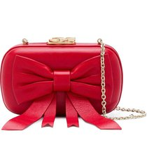 corto moltedo susan bow clutch - red