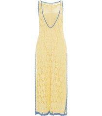 jw anderson crocheted shift dress - yellow
