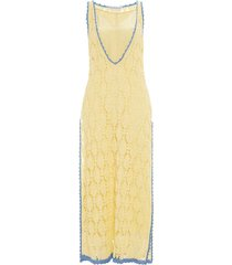 jw anderson crocheted shift dress - yellow
