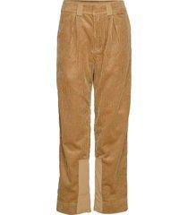 corduroy pantalon met rechte pijpen bruin ganni