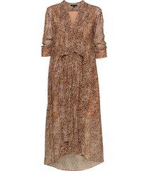 ina tabby dress knälång klänning brun allsaints