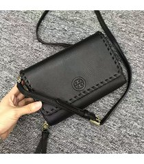 authentic tory burch marion flat wallet cross body bag