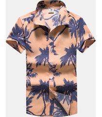 uomo camicia casual in estate di hawaiian stile camicia stampata respirabile