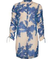 shirt w. tie string at sleeves tunika blå coster copenhagen