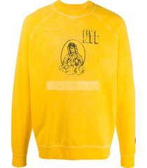 heron preston holy spirit print sweatshirt - yellow