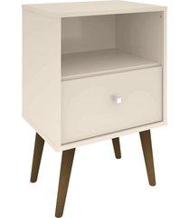 mesa de cabeceira mb2014 c/ 1 gaveta off-white móveis bechara