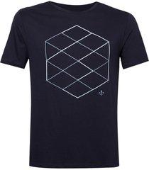 camiseta dudalina careca estampa hexagono masculina (vinho, gg)